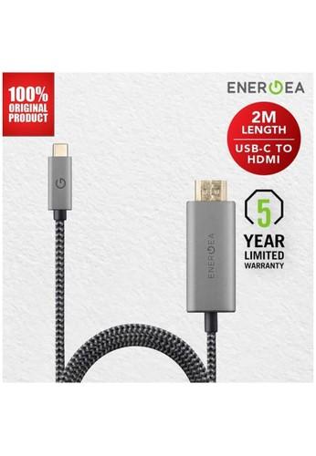 Energea black Energea Fibratough USB 60Hz Type C to HDMI 4K 2 mtr - Black DC1ADES8F7865DGS_1