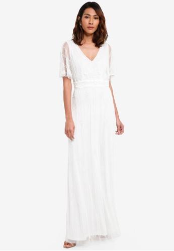 Lace & Beads white Marine Maxi Dress 2BC04AA5A36215GS_1