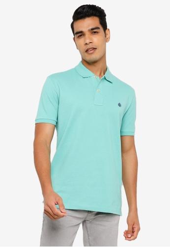 Springfield green Essential Pique Polo Shirt B7A91AA99FB49BGS_1