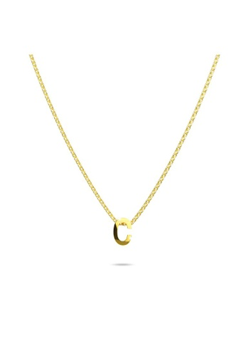 Bullion Gold gold BULLION GOLD Initials Brick Alphabet Letter Necklace Gold Layered Steel Jewellery  - C 58118AC1A67060GS_1