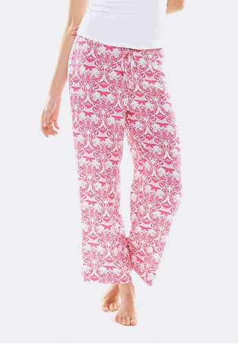 Deshabille white and pink Hope Crop Pant In Bag E2941US7ACDA7BGS_1
