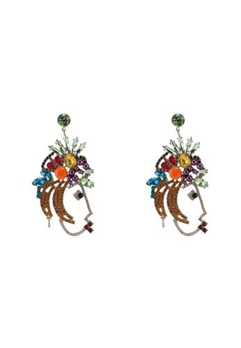 NA-KD 多色 鑽飾耳環 E65EDAC2EDBA5CGS_1