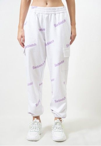 Ocwa Studio white and purple OCWA BARBIETCH SWEATPANTS WHITE PURPLE D02A1AADDF5EE5GS_1