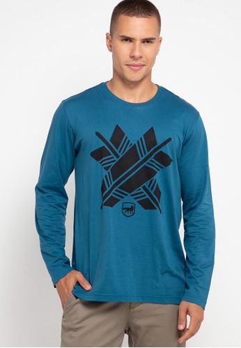 Andrew Smith blue T-shirt Tangan Panjang 844C3AAA38D0E6GS_1
