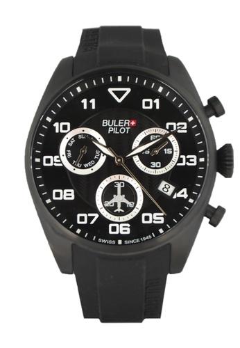 Buler black Buler Sport Watch - Black - Gents - Date - 6H BU689AC2VG1LHK_1