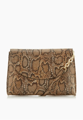 Dune London brown Dune London Emzie Curved Flap Pinched Bag 87CF1AC2CBA5F5GS_1