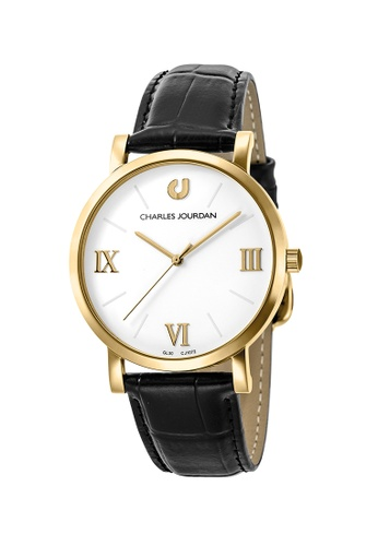 Charles Jourdan black CHARLES JOURDAN MEN CLASSIC QUARTZ D5C39ACAB7F792GS_1
