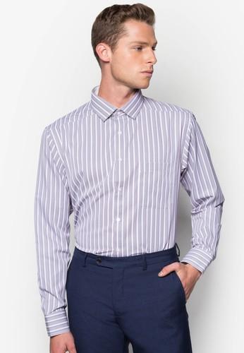 直條紋合身長袖襯衫, 服飾, 服esprit台北門市飾