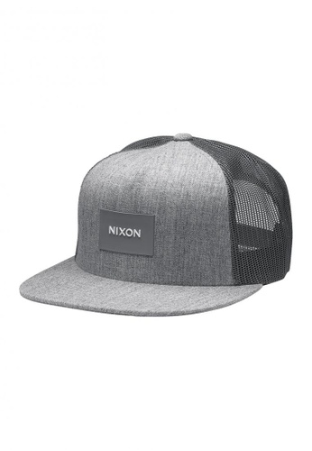 Nixon grey Nixon - Team Trucker Hat - Grey (C2167070) NI855AC69RRMSG_1