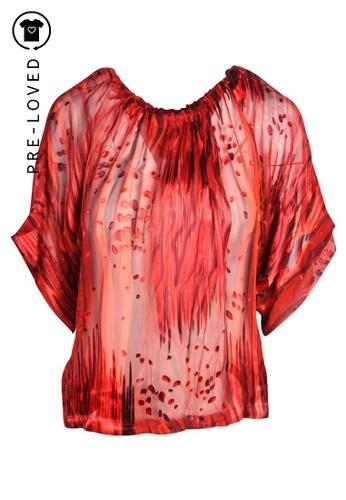 Rachel Zoe red Pre-Loved rachel zoe Silk Blouse DCA99AAAE72402GS_1