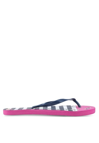 OVS multi Rubber Striped And Floral Flip Flops 08ED8SHA3958FDGS_1
