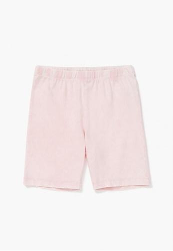 FOREVER 21 pink Marled Biker Shorts 20F5EKA2615F26GS_1