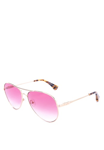 Sonix pink and gold Lodi Sunglasses A1E31GLAC125D2GS_1