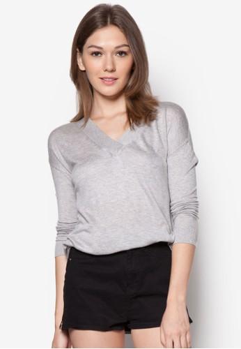 V 領素色長袖衫, 服zalora是哪裡的牌子飾, 外套