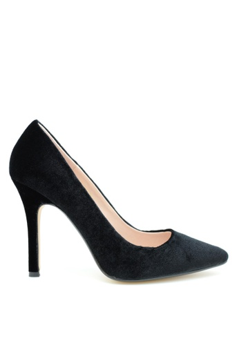 PRODUIT PARFAIT black Pointed Toe Velvet High Heel D3BA5SH81C9487GS_1