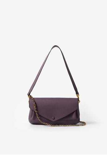 Rabeanco purple RABEANCO RIC Chain Clutch - Lavender 8E392ACB3B54ACGS_1