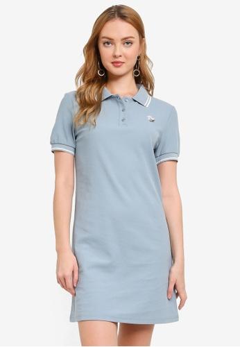 Hopeshow blue Polo T-Shirt Mini Dress 46773AAAA93989GS_1