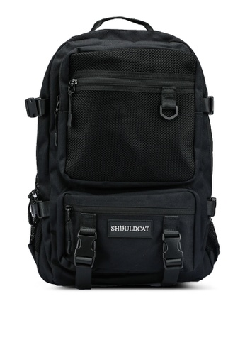 Bagstationz black Multi-Compartment Large Backpack 7A9F4ACDB91F74GS_1