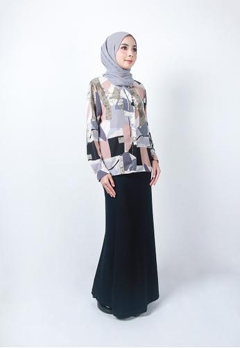 Ladies Jeans black Ordinary Plain Long Skirt A4095AA9429F20GS_1