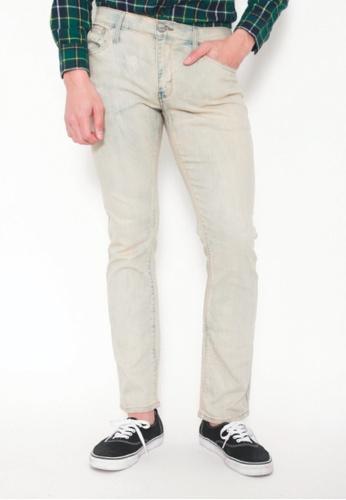 9cc10e4645a DENIZEN white Men Slim Straight Denim Jeans White Marble 4BEB3AA8B3B8E7GS 1
