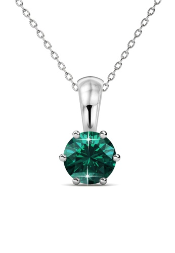 Her Jewellery green Her Jewellery Birth Stone Pendant (May) with Necklace Chain with 18K Gold Plated F9C1DAC588F688GS_1