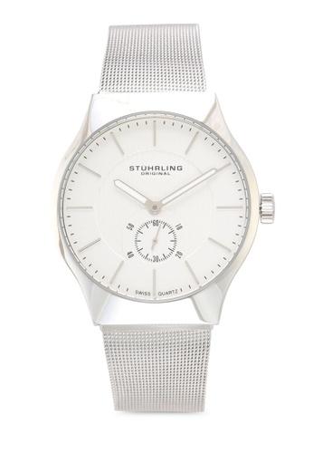 Stuhrling Original silver Mesh Bracelet Watch 4D7EFAC554A3C1GS_1