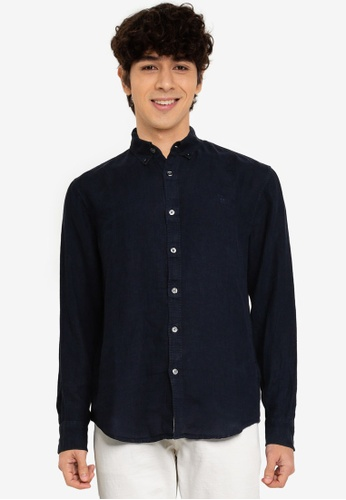Abercrombie & Fitch navy Icon International Shirt 18AF8AA72E9A06GS_1
