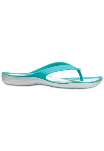 Crocs green Women's Swiftwater Flip TTl/Pwh 68211SH2F10E8EGS_1
