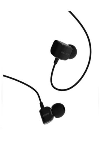 QCY black Crazy Robot In-Ear Wired Earphone with HD Microphone Black A64CAES8FBF07DGS_1