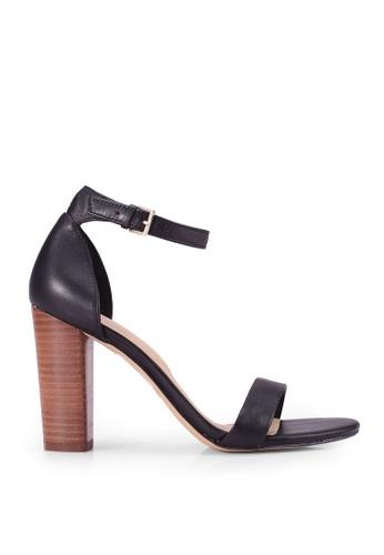 ALDO 黑色 Jerayclya Open Toe Ankle Strap Block Heels 6D063SH6135FDBGS_1
