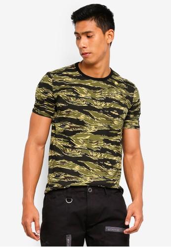 SPARROW GREEN green Carl Slim Camo Tee 000B1AA96E3871GS_1