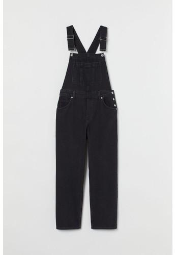 H&M black Denim dungarees EDF40AA6EE5B61GS_1