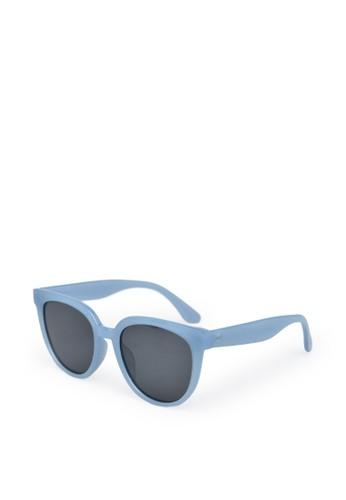 9 to 12 blue Oversize Sunglasses Kacamata Wanita [5504] 81E59GLC83A790GS_1