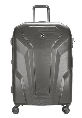 Airways grey Airways Cosima ATH 7915 ABS 24 inch Spinner Hard Case Luggage - Charcoal Grey 93352AC742C275GS_1