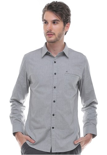 Johnwin grey Johnwin - Slim Fit - Kemeja Formal - Lengan Panjang - Abu F06F9AAC57FE92GS_1