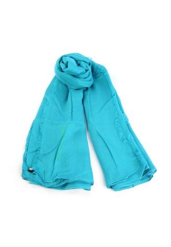 emporio armani blue Emporio Armani Scarf in Blue for UNISEX CA423AC8C90ABBGS_1