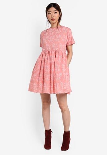 Shop Something Borrowed Printed Babydoll Dress Online on ZALORA Philippines