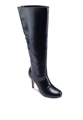 及膝拉鍊有跟高筒靴zalora taiwan 時尚購物網, 女鞋, 靴子