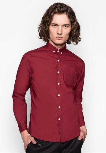 Flesh IMP 紅色 鈕扣領長袖襯衫 FL901AA52PXRSG_1