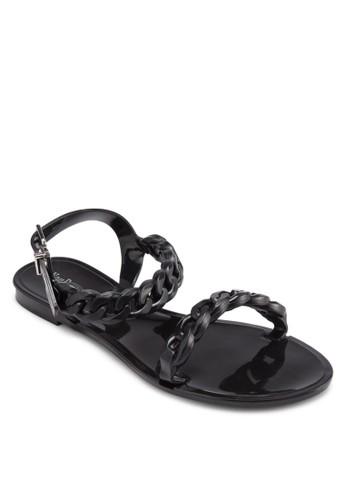 編織帶果凍平底涼鞋,esprit 童裝 女鞋, 鞋