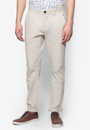 基本款esprit旗艦店斜布長褲, 服飾, 直筒褲