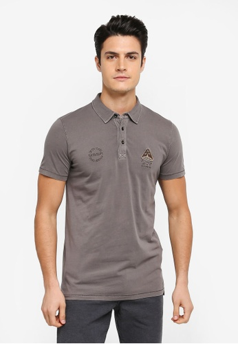 ESPRIT grey Short Sleeve Polo Shirt ES374AA0T18TMY_1