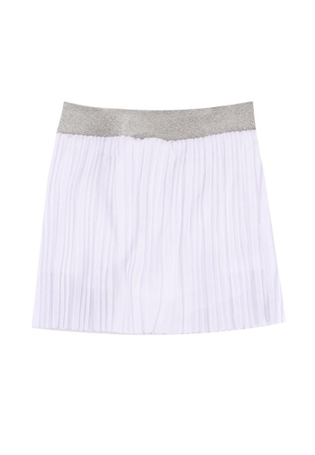FOX Kids & Baby white Pleated Jersey Skirt BED1FKA6A93947GS_1