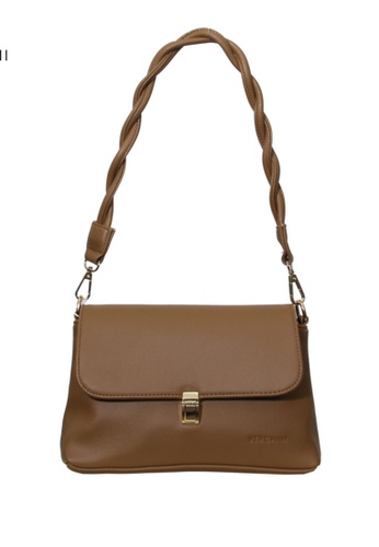 Verchini brown Verchini Twist Top Handle Bag 0ADE3AC83C82CEGS_1