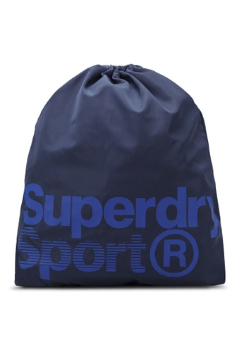 Superdry white and navy DRAWSTRING SPORTS BAG SU137AC0RSF2MY_1