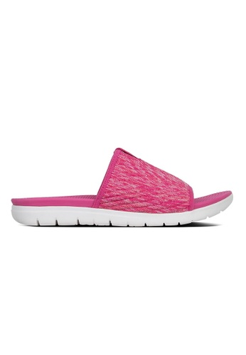 9b672fe05d6 Fitflop pink Fitflop Artknit Pool Slide (Psychedelic Pink)  B2FC2SHBD6444CGS 1