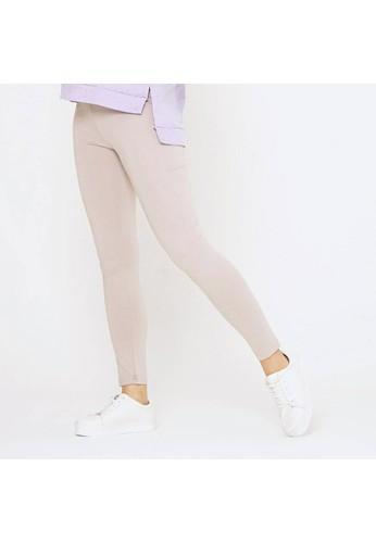 Mamibelle Nursingwear beige Mamibelle Lexa Khaki Celana Legging Ibu Hamil Khaki Spandex Rayon Premium 5807AAA7E5E9E0GS_1