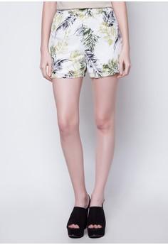 Printed Chiffon Shorts