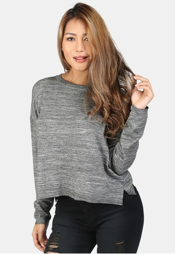 London Rag grey Crew Neck Knit Sweater E67CFAA421F1C1GS_1