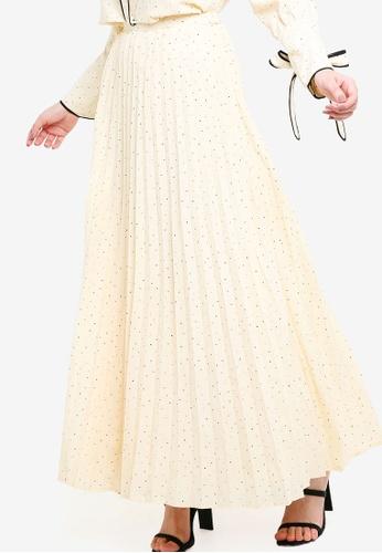 Zalia beige Pleated Skirt 10EB3AAC20F593GS_1